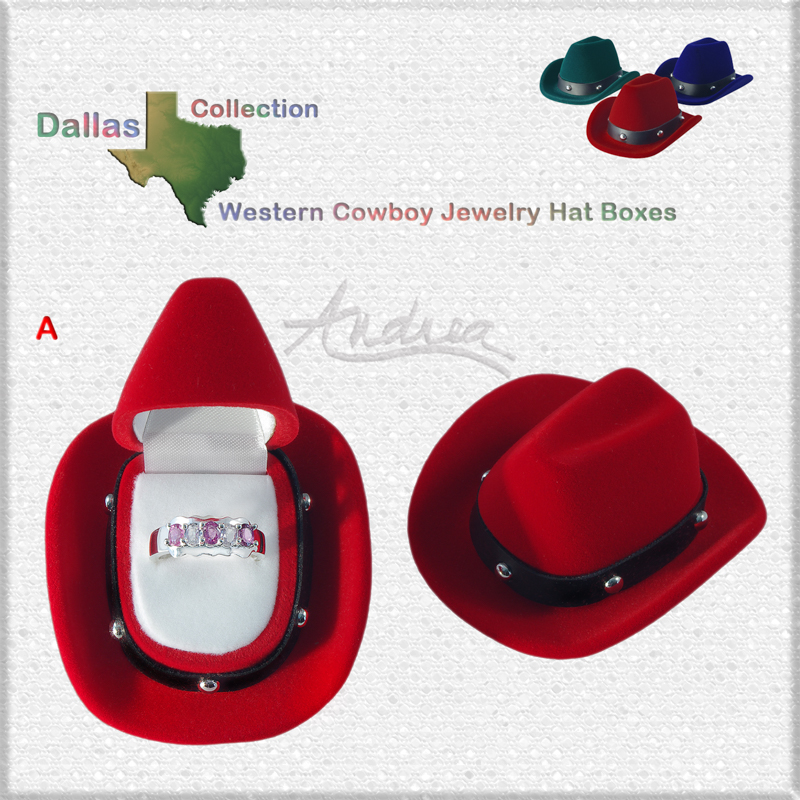 4b08e074 Details about Western Cowboy Hat Gift Box Dallas Collection Ring Earrings  Body Jewelry etc.